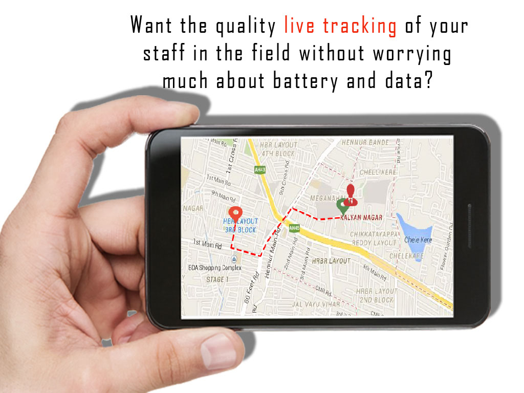 Live tracking of your staff / Filed staff tracker App