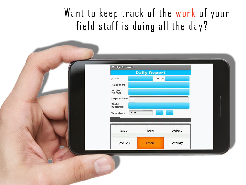 Keep Track of the work of your field staff through App